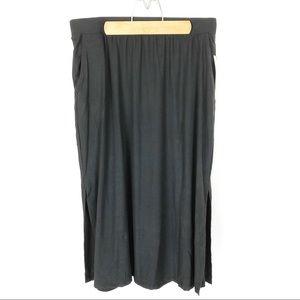 (W-16) Terra & Sky Black Maxi Skirt Size 0X 14W